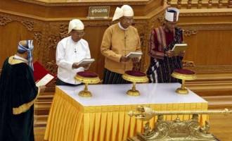 U Htin Kyaw sworn in as Myanmar's president