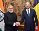 The Prime Minister, Narendra Modi meeting the Prime Minister of Belgium, Charles Michel