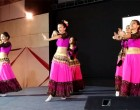 """Kyrgyz Dancers dancing on Indian Bollywood Song """" Chammak Challo """" at a Cultural Evening organised by the Embassy of Kyrgyz Republic in India"""