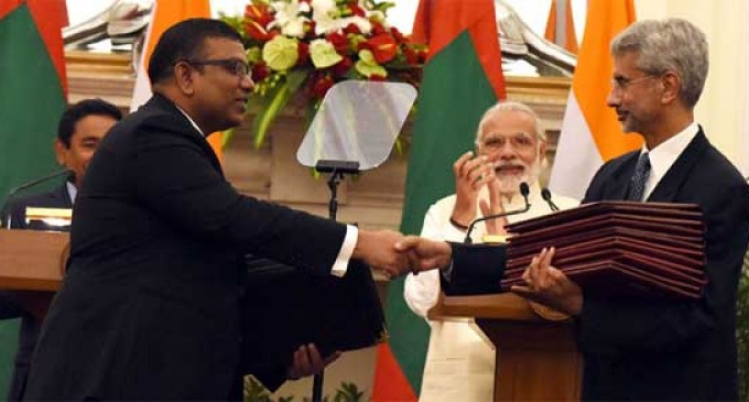 Government of India and the Republic of Maldives Sign two Agreements