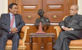 President of the Republic of Maldives, Abdulla Yameen Abdul Gayoom calling on the President,