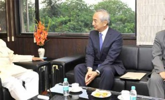 Ambassador of Japan to India, Kenji Hiramatsu meeting the Minister of State for Culture (IC), Tourism (IC) and Civil Aviation, Dr. Mahesh Sharma