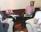 Ambassador of Germany to India, Martin Ney meeting the Union Minister for Civil Aviation, Ashok Gajapathi Raju Pusapati,