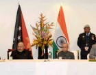 President of India, Pranab Mukherjee and the Prime Minister of Papua New Guinea, Peter O'Neill