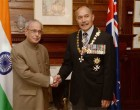 President India, Shri Pranab Mukherjee, meeting with H.E. Lieutenant General, The Rt. Hon'ble Sir Jerry Mateparae, GNZM,