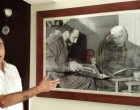 H.E. Mr. Oscar Israel Martinez Cordoves, Ambassador of Cuba to India showing India – Cuba relations through a rare photograph of Cuban President Fidel Castro with Indian Prime Minister Jawaharlal Nehru