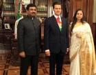 Mr. Muktesh Pardeshi, Ambassador of India to Mexico presenting his credentials to President of Mexico.