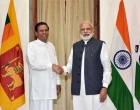 President of the Democratic Socialist Republic of Sri Lanka, Maithripala Sirisena meeting the PM, Narendra Modi