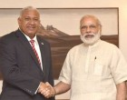 The Prime Minister of Fiji, Josaia Voreqe Bainimarama calls on the Prime Minister, Narendra Modi,