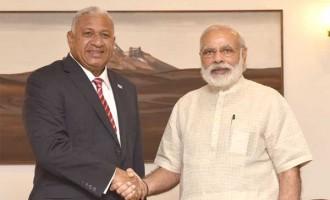 The Prime Minister of Fiji, Josaia Voreqe Bainimarama calls on the Prime Minister, Narendra Modi,