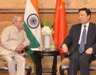 President, Pranab Mukherjee meeting the Vice President, Li Yuanchao, in Beijing, China.