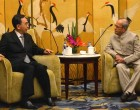 President of India, Pranab Mukherjee, meeting with the Governor of Guangdong Province ZHU XIAODAN