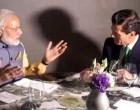 President Enrique Peña Nieto and Prime Minister Narendra Modi share a Mexican vegetarian dinner.