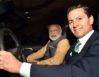 In a very special gesture, President Enrique Peña Nieto @EPN personally drives Prime Minister Narendra Modi @narendramodi to a restaurant for Mexican vegetarian fare