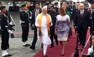 PM Modi arrives in Mexico