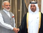 Prime Minister Narendra Modi meeting the Prime Minister of Qatar, H.E. Sheikh Abdullah Bin Nasser Al Thani in Downtown, Doha