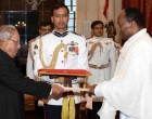 Ambassador-Designate of the Federal Democratic Republic of Ethiopia, Asfaw Dingamo Kame presenting his credentials to the President, Pranab Mukherjee
