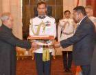 High Commissioner-Designate of Republic of Mozambique, Ermindo Augusto Ferreira presenting his credentials to the President, Pranab Mukherjee