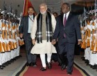 Modi arrives in Mozambique