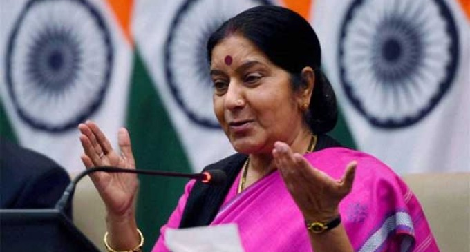 Sushma calls on Singapore PM