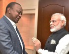 Prime Minister, Narendra Modi meeting the President of Kenya, Uhuru Kenyatta before the community event,