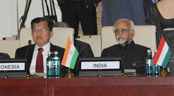 Vice President, M. Hamid Ansari at the 11th ASEM Summit, in Ulaanbaatar, Mongolia on July 15, 2016.