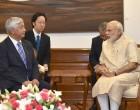 Minister of Defence, Japan, Gen Nakatani calls on the Prime Minister, Narendra Modi, in New Delhi.