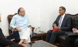 US Ambassador to India, Richard R. Verma calling on the Minister for Finance and Corporate Affairs, Arun Jaitley
