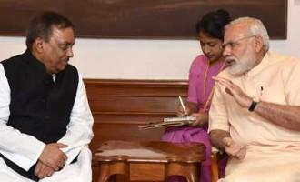 Home Minister of Bangladesh, Asaduzzaman Khan calls on the Prime Minister, Narendra Modi,