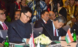 Minister of State for Home Affairs, Kiren Rijiju participating in the International Meeting on Counter – Terrorism, in Bali, Indonesia.