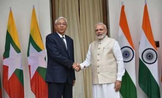 Modi, Myanmar President hold talks