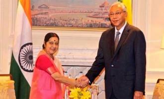 Sushma calls on Myanmar President