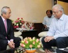 Ambassador of Japan to India, Kenji Hiramatsu calling on the Union Minister for Civil Aviation, Ashok Gajapathi Raju Pusapati,