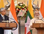 Prime Minister, Narendra Modi with the President of Myanmar, Htin Kyaw in joint media briefing