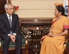 Ambassador of Japan to India, Kenji Hiramatsu meeting the Minister of State for Commerce & Industry (IC), Nirmala Sitharaman
