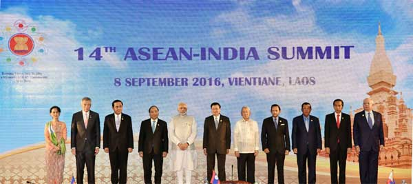 Prime Minister, Narendra Modi attends 14th ASEAN-India Summit, at Vientiane, Lao PDR on September 08, 2016.