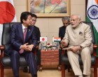 PM, Narendra Modi meeting the Prime Minister of Japan, Shinzo Abe, on sideline of the 14th ASEAN India