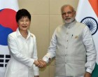 The Prime Minister, Narendra Modi meeting the President of South Korea, Park Geun-hye