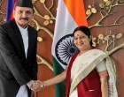 Sushma meets Nepal Foreign Minister