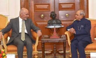 President of Afghanistan, Dr. Mohammad Ashraf Ghani meeting the President, Pranab Mukherjee,