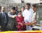 Prime Minister of Nepal, Pushpa Kamal Dahal paying floral tributes at the Samadhi of Mahatma Gandhi,