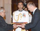 Ambassador-designate of Estonia, Riho Kruuv presenting his credentials to the President, Pranab Mukherjee