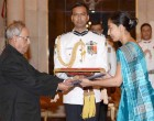High Commissioner-designate of Fiji, Namita Khatri presenting her credentials to the President, Pranab Mukherjee
