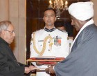 Ambassador-designate of Sudan, Sirajuddin Hamid Yousif presenting his credentials to the President,