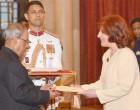 Ambassador-designate of Argentina, Maria Cristina Ueltschi presenting her credentials to the President,