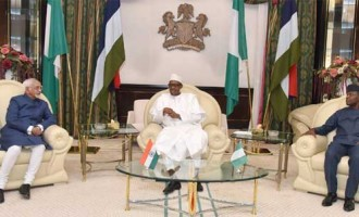 Vice President, M. Hamid Ansari calling on the President of Nigeria, Muhammadu Buhari at the State House