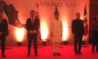 Minister of State for Home Affairs, Mr. Kiren Rijiju Chief Guest at the National Day Reception joined hosted by Mexico, El Salvador, Costa Rica & Guatemala organised in New Delhi, India on 16th September 2016.