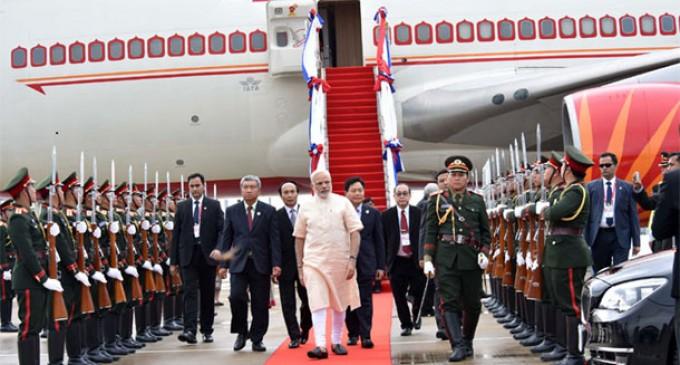PM Modi in Laos to attend summits