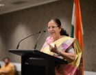 Sumitra Mahajan urges world to unite against terrorism