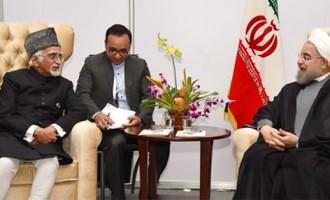 NAM Summit : Hamid Ansari meets Iranian President